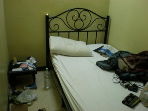 Simple hostel bed